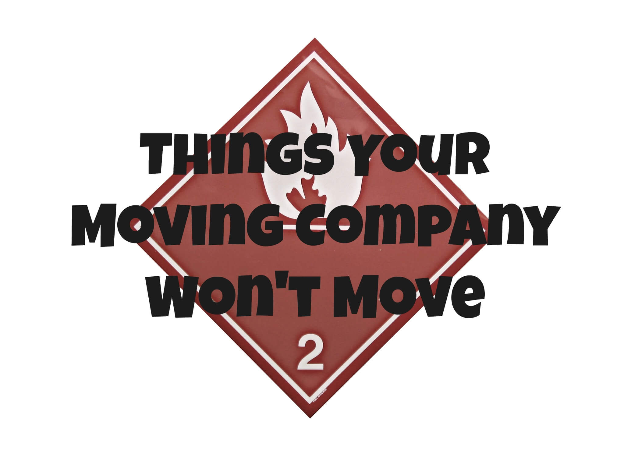 Things Your Moving Company Won't Move