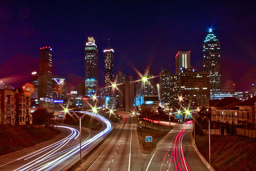 Atlanta, Georgia at Night