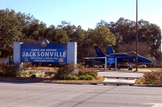 The Naval Air Station is one of Jacksonville's top employers.