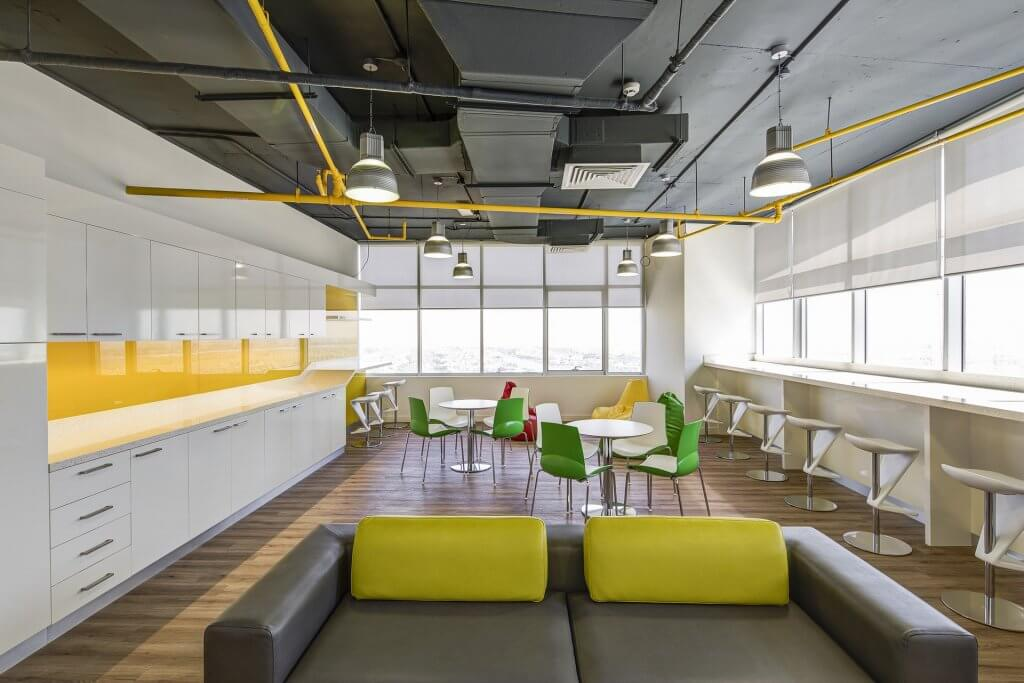 spacious office dining area