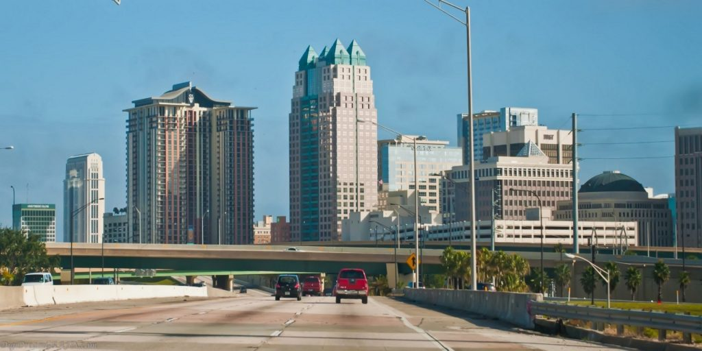 downtown Orlando view from I4