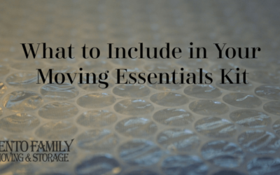 What to include in your moving essentials kit