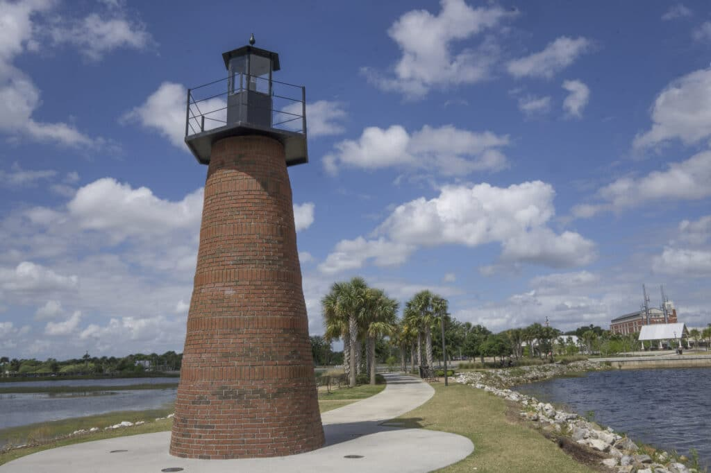 Lighthouse at Lakefront Park in Kissimmee, FL
