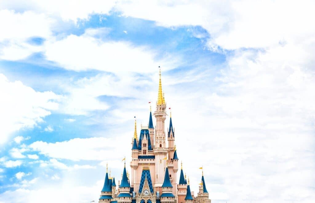 Cinderella's castle at Walt Disney World in Orlando, FL