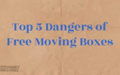 Top 5 Dangers of Using Free Moving Boxes