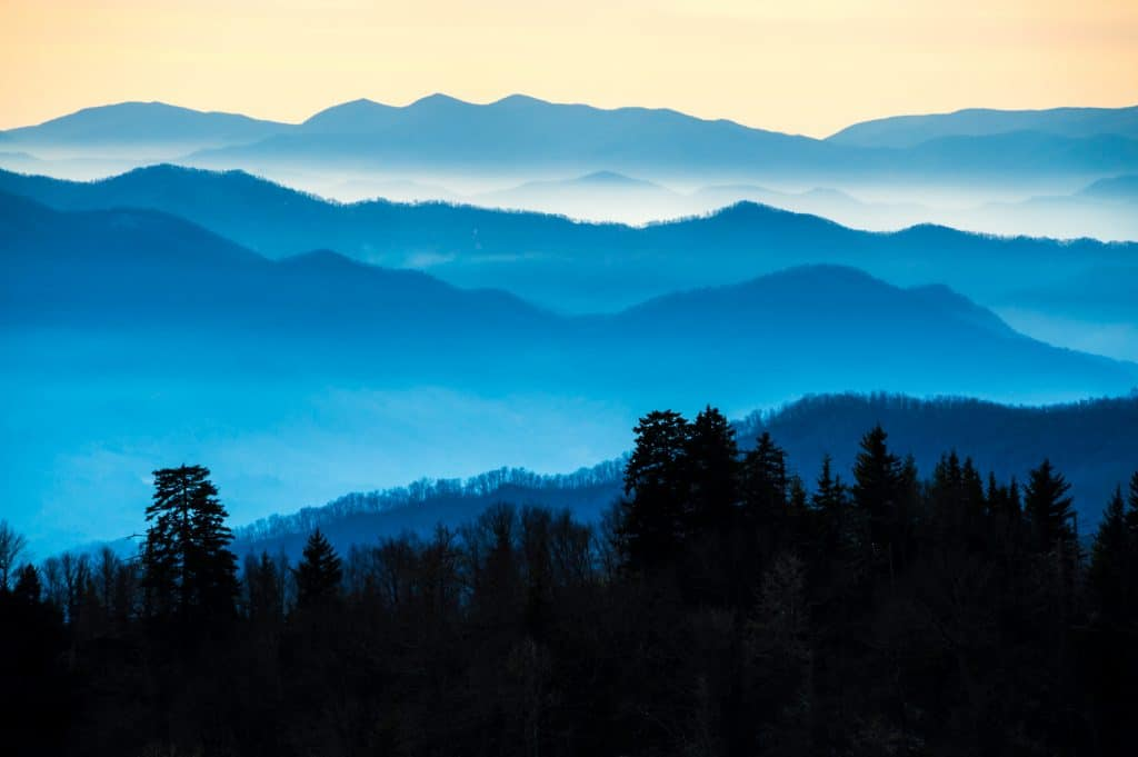 The Smoky Mountains in TN